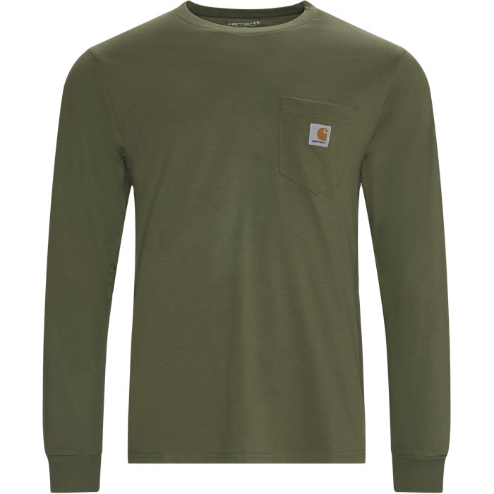 L/S Pocket T-shirt - T-shirts - Regular - Grøn